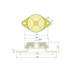 Виброопора (PDH100/38/133 M16 NR60)