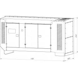 Шумозащитный кожух для генератора 200-500 кВт