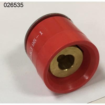 Кабельное гнездо DKJ 95 -1 (красное)