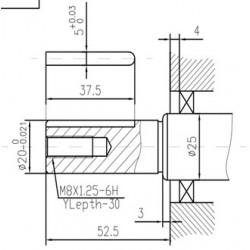 Двигатель дизельный TSS Excalibur 173F- K1 (вал цилиндр под шпонку 20/53 / Key)