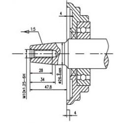 Двигатель бензиновый TSS Excalibur S420 - T2 (вал конусный 26/47.8 / taper)