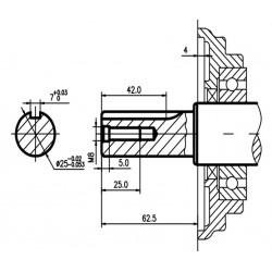 Двигатель бензиновый TSS Excalibur S460 - K0 (вал цилиндр под шпонку 25/62.5 / key)