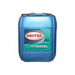 Масло SINTEC Turbo Diesel SAE 10W-40 API CF-4/CF/SJ канистра 20л/Motor oil 20liter can