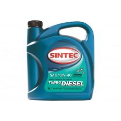 Масло SINTEC Turbo Diesel SAE 10W-40 API CF-4/CF/SJ канистра 5л/Motor oil 5liter can