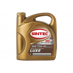 Масло SINTEC Люкс SAE 10W-40 API SL/CF канистра 4л/Motor oil 4l can