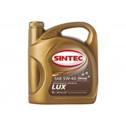 Масло SINTEC Люкс SAE 5W-40 API SL/CF канистра 4л/Motor oil 4l can